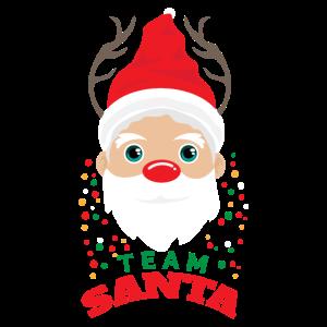 Weihnachten Team Santa Rentier Geweih - Geschenk