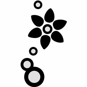 Blume und Blasen zweifarbig