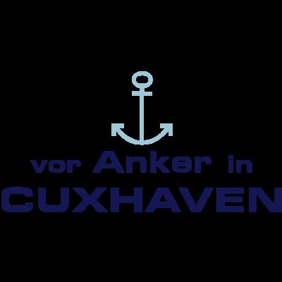 Vor Anker in Cuxhaven - Für alle Cuxhavener und Cuxhavenerinnen und Cuxhaven-Liebhaber. - wasser,typographie,Souvenir,Nordsee,Nordeutschland,Niedersachsen,Maritim,Küste,Cuxhaven,Anker