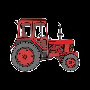 Roter Traktor / Trecker