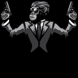 Mr. Monkey With Guns | Affe | Waffe | Geschenkidee
