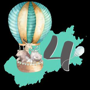 4. Geburtstag - Heißluftballon Boho