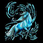 Blaues Wasserpferd
