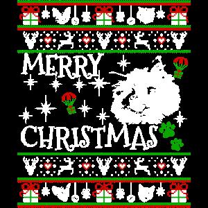 Niedliche Ragdoll Kätzchen-Weihnachtskatzen-Geschenke