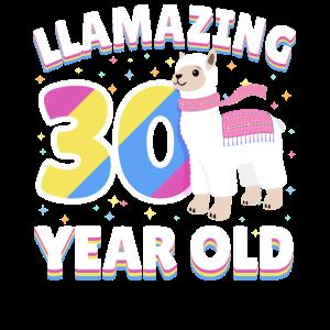 Dreißigjähriges Geschenk zum 30. Geburtstag von Llama