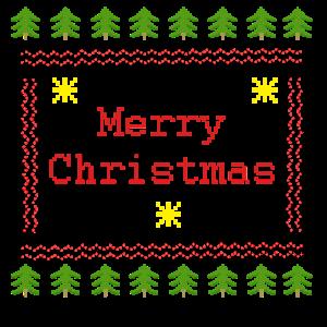 Ugly Christmas T-Shirt Hässliche Weihnachten Merry