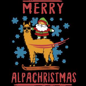Merry Alpachristmas Weihnachten Alpaka Tee