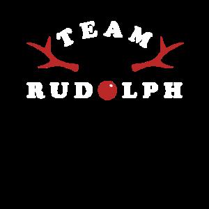 Team Rudolph Weihnachtsfeier Gruppenshirt