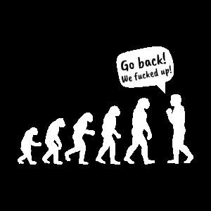 Evolution vergeigt lustiges T shirt