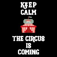 Behalten Sie ruhig, dass der Zirkus Karnevalszelt kommt