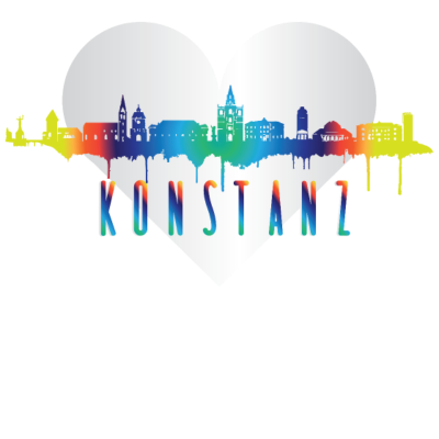 Konstanz Skyline -  - love,farbenfroh,farbenfreudig,Weihnachtsgeschenk,Skyline Konstanz,Skyline,Shirt,Männer,Konstanzer,Konstanz,Hoodie,Herz,Heimatstadt,Heimat,Heart,Geschenkidee,Geschenk,Frauen,Fan