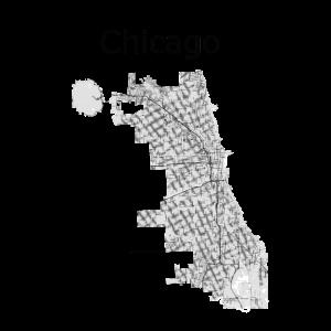 stilisierte Straßenkarte Chicago