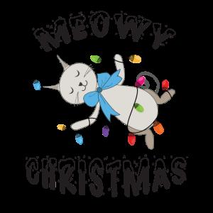 Meowy Christmas Xmas Katze Fellnase Weihnachten