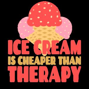 Eiskrem ist billiger als eine Therapie Sommer