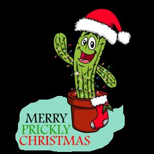Weihnachten Lustig Kaktus Stacheln Süß Niedlich