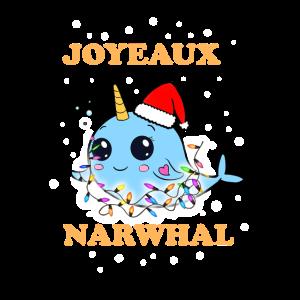 Narwal Süß Niedlich Kawaii Weihnachten Squishy