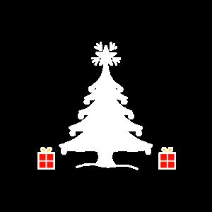 Weihnachtsbaum, bunte Weihnachtsgeschenke
