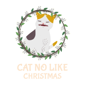 Lustige Weihnachtskatze Katzenliebhaber Weihnacht