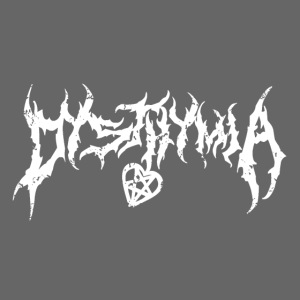 dysthymia trashed white on black