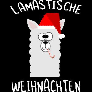 Weihnachten, nikolausmütze, Santa, Lama