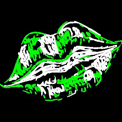Fürth Lippen Grün - Dieses Fürth Design ist das perfekte Weihnachtsgeschenk für Männer, Frauen, Kinder, Geschwister und Fürth und Franken lieben. - Mittelfranken,Kussmund,Kleeblatt,Fürth,Franken