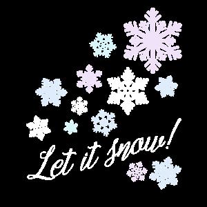 Let it snow! Schneesterne Schneeflocken