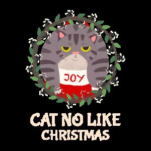 Katzen mögen kein Weihnachten Design Geschenk