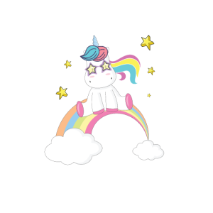 Pyjama-Party Retro niedlicher Einhorn-Regenbogen-lustiges Geschenk