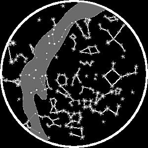 Winter Sternenhimmel Sternenkarte Astronomie Nacht