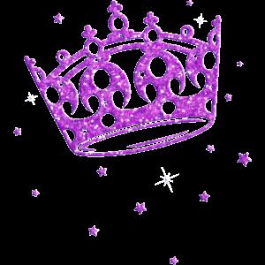 Krone Glitter Prinzessin Geburtstag Princess