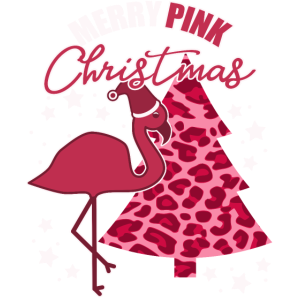 Weihnachten in Pink - Pinker Flamingo Christmas