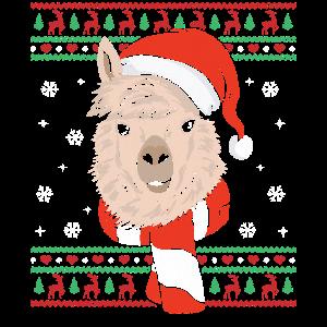 Ugly Christmas Lama Alpaka Weihnachtsgeschenk