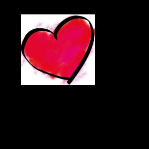 Comic Herz mit Spruch Liebeskummer: Geschenkidee