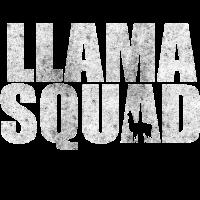 Llama Squad Alpaka Lamas Alpakas Zoo Geschenk