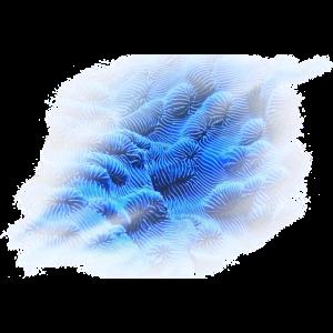 Moderne Kunst Design Blau Blumen Geschenk