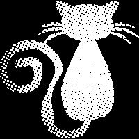 Katze gepunktet - Pop-Art