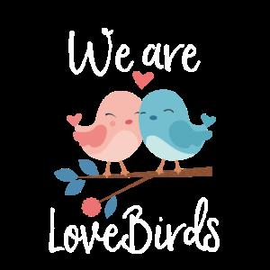 Wir sind Liebesvögel Paar Paardesign Paarshirt