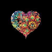 Farbiges Herz - Colored Heart - Liebe Lebenslust