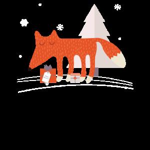 Netter Scandi-Weihnachtsfuchs