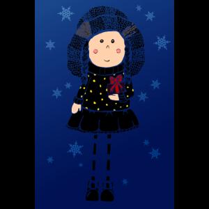 Poster Maedel Geschenke Winterzauber