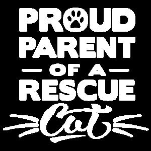 Stolzes Elternteil eines Rettungs-Katzen-Shirts