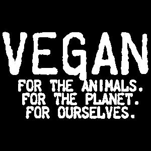 Vegan für das Tierhemd