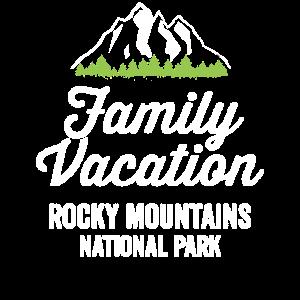 Nationales Familien-Ferien-Shirt Rocky Mountains