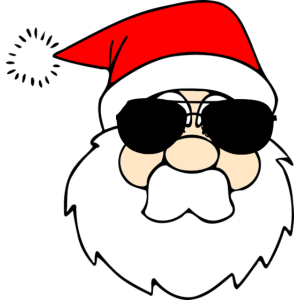 Badass Santa in der Weihnachtszeit T-shirt