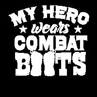 My Hero Wears Combat Boots Soldatenfrau Geschenk