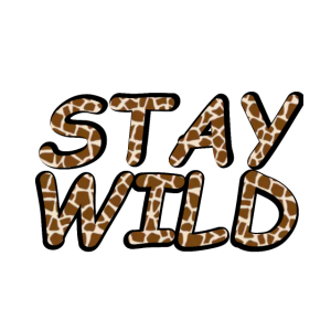 STAY WILD cooles Tshirt, Animal print, Giraffe