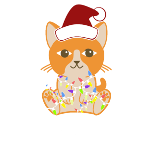 Weihnachten Katze Bengalkatze Siamkatze Geschenk
