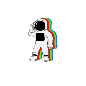 Astronaut Ghettoblaster T-Shirt Geschenk