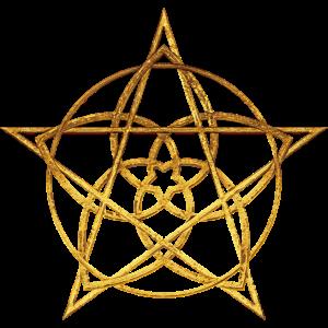 Venusblume Pentagramm gold