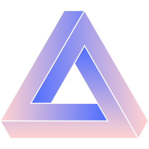 Impossible triangle purple